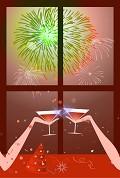 Postais de Brinde ao novo ano!